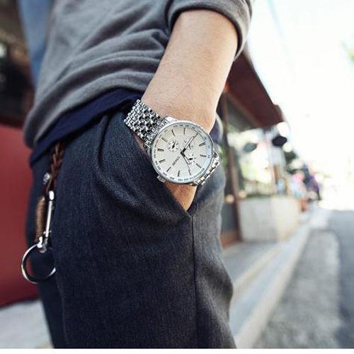 Prix pour 2016 sinobi hommes montres top marque de luxe de mode montre à quartz hommes en acier quartz casual quartz-montre horloge relogio masculino