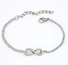SL088 2015 Korean fashion lovers bracelets personality simple lucky number 8 characters bracelets Alloy chain opening Bangles