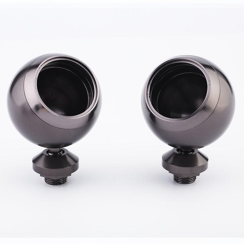Speaker Car Base Audio Tweeter Aluminium Speaker Box *20-25 ( One Pair ) Silver Black Titanium Som Automotivo Speaker Mount