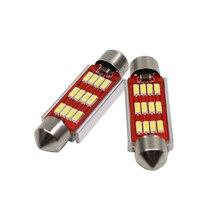 10 Pcs LED Bulb Light C5W  31mm 36mm 39mm 42mm 4014 SMD Cambus C10WD Auto Car Styling Interior Extern