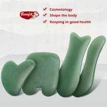 Natural Aventurine Jade Stone Guasha Massage Tool Acupuncture SPA Therapy Gua Sha Massager Scraping Board for Face Back Body недорого