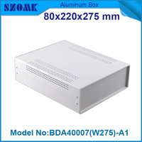 1 piece instrumentos de medicion electrica abs black plastic project box 79x219x275 mm china electronics products