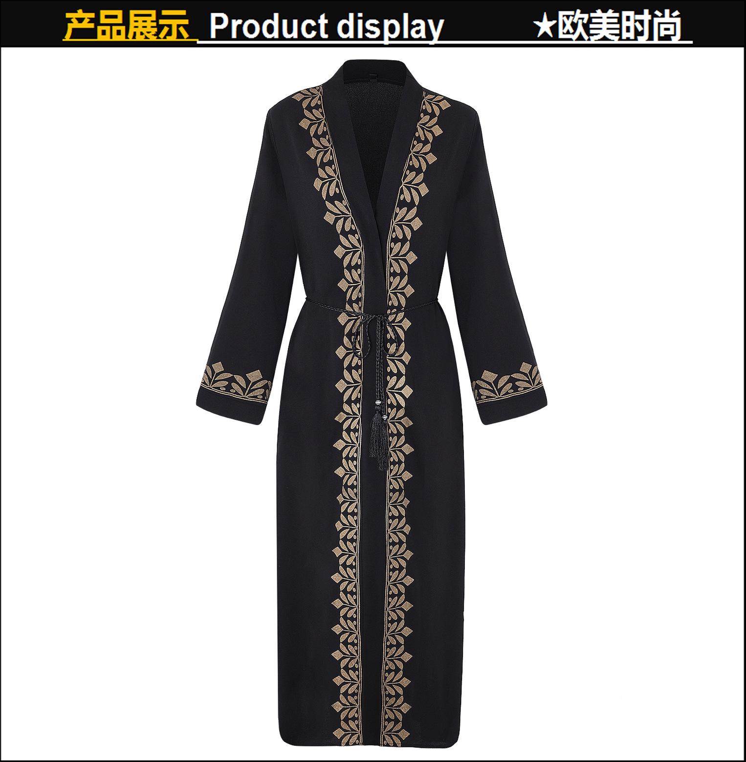 2018 Caftan Abaya Dubai Arabian Muslim Party Dresses Cardigan Long ... 57c80ad4a34a