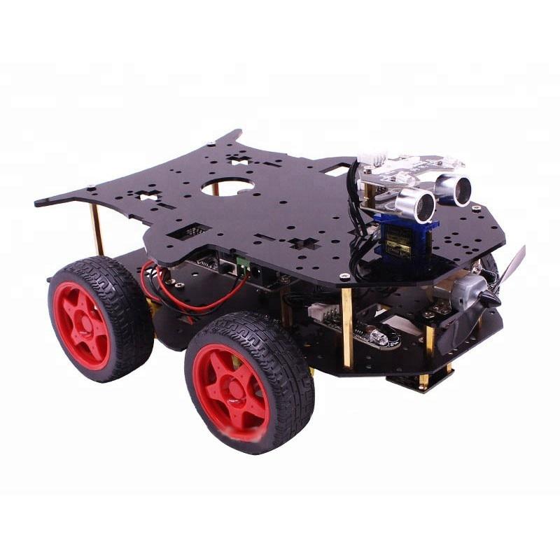 2018 with UI trasonic Sensor Programmable 4WD Arduino Smart Car Kit Robot Car Kit цена