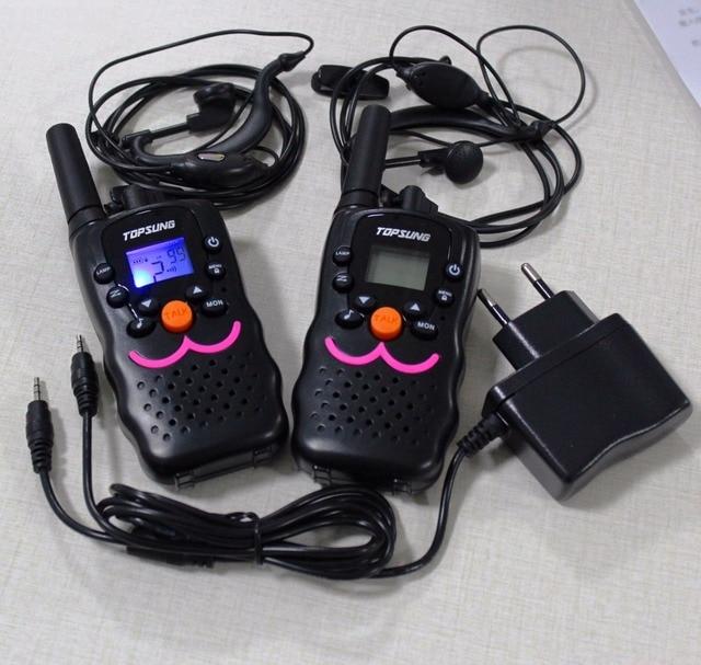 VT8 new design 1W power long range portable radio walkie talkie pair kids children CB radios HF transceiver +charger earphones