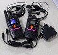 VT8 novo design 1 W de energia de longo alcance rádio portátil walkie talkie par crianças crianças rádios CB HF transceiver + fones de ouvido carregador