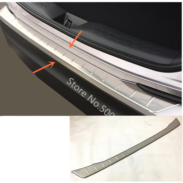 For Toyota C HR CHR 2017 2018 2019 2020 Car Cover Outside Stainless Steel Rear Bumper Tailgate Pedal Strip Trim Plate Threshold