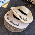 2016 Mulheres de Verão Chapéu de Sol Senhoras Aba Larga Chapéus De Palha Ao Ar Livre Dobrável Praia Chapéu Panamá Igreja Chapéus Osso Chapeu Feminino
