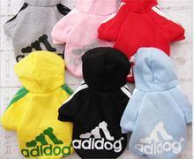30pcs/lot  Pet Puppy Dog Clothes Coat Hoodie Sweater Costumes Size XS S M L XL XXL