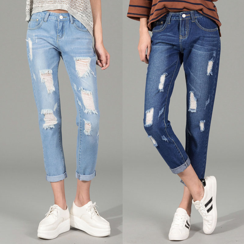 Aliexpress.com : Buy Distressed Skinny Ripped Jeans Women Retro ...