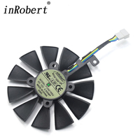 New Everflow Cooler Fan Replacement For ASUS STRIX RX470 RX460 GTX980Ti R9 390 390X GTX 1070