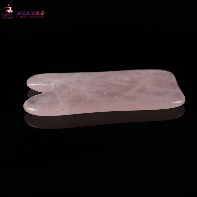 1 Pcs 100% natural rose quartz guasha board massage tool facial treatment scraping tool for body health care