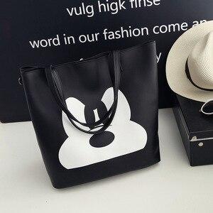 Image 2 - Disney Mickey Mouse lady kreskówkowa torba na ramię torba modna torebka odzież akcesoria wysoka pojemność przechowywania torba na prezent