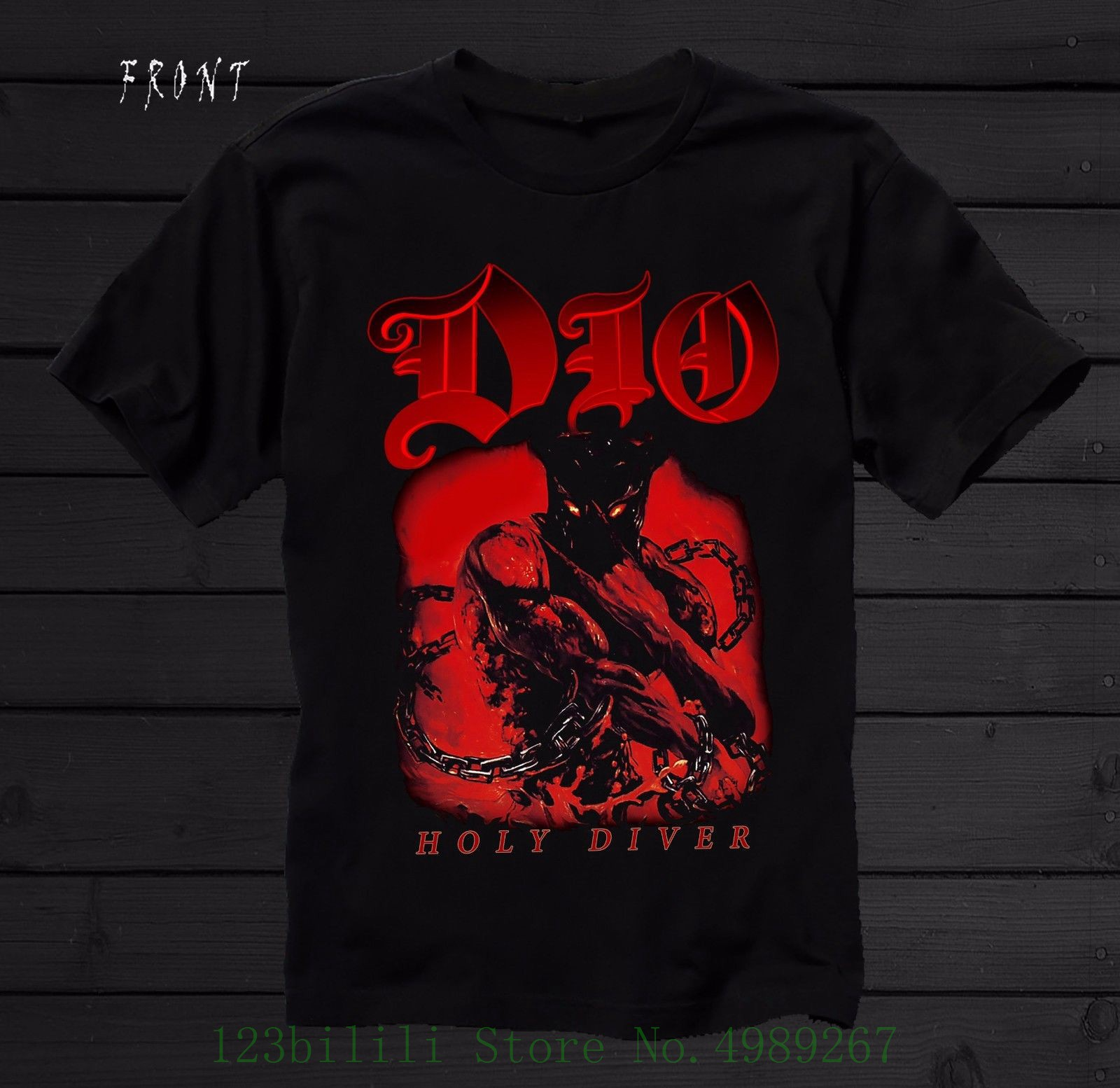 Dio - Holy Diver - American Heavy Metal Band , Black T Shirt - Sizes : S To 7xl Print T-shirt Men Summer