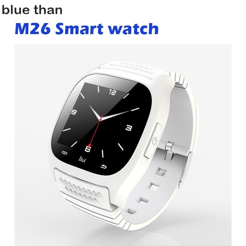 imágenes para Azul de Reloj Inteligente Bluetooth M26 reloj Barómetro Alitmeter Música podómetro para Android IOS Teléfono pk u8 u80 dz09 w8 smartwatch