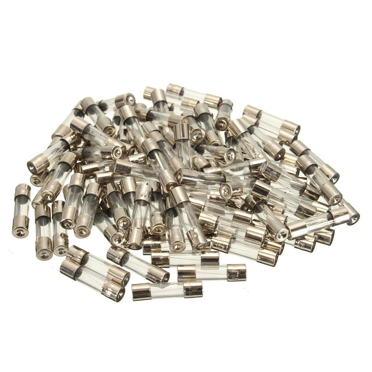 Promotion! 100 pièces ensemble 5x20mm rapide coup verre Tube fusible Kits assortis, rapide-coup verre fusibles