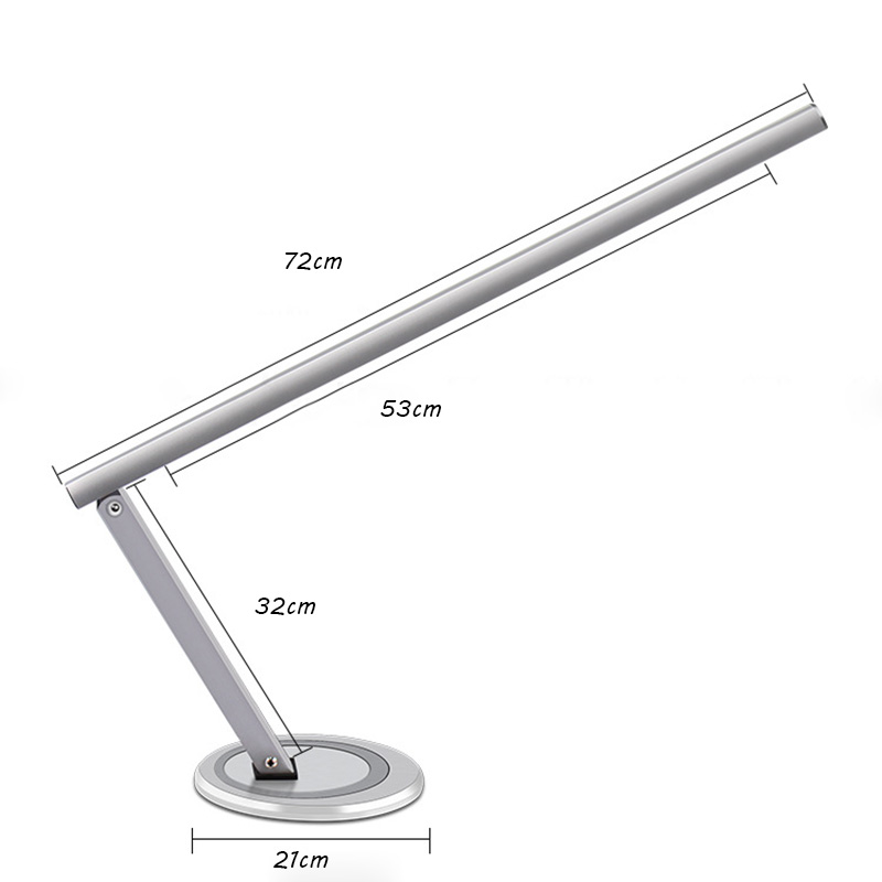 silver metallic 20w T5 tulb CE professional nail tools nail salon desk table lamp for nail