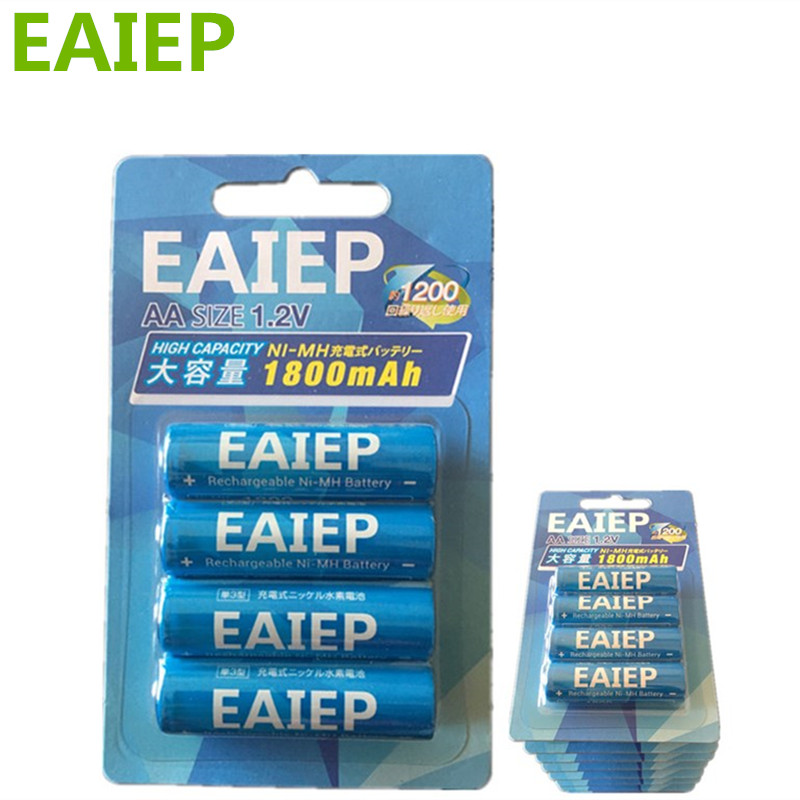 40pcs 100% genuine original EAIEP 1800mAh NiMH AA rechargeable batteries, high-quality toys, cameras, flashlights and battery