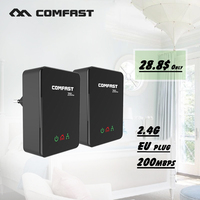2017 New 200Mbps Powerline Ethernet Adapter COMFAST CF WP200M Plc Homeplug Powerline Network Adapter Router Support