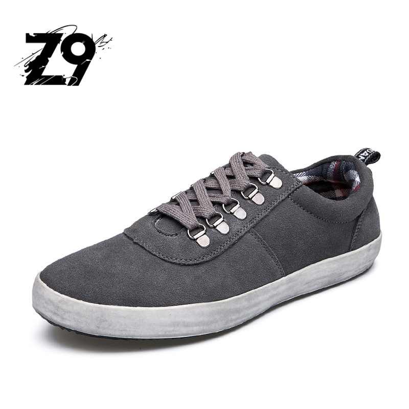 New men casual shoes fashion sneaker cow suede comfortable flats lace breathable spring autumn skator style for men's quality