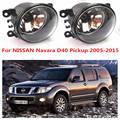 Para NISSAN Navara D40 2005-2015 luzes de Nevoeiro Da Frente Luzes de Nevoeiro Halogênio Carro Styling 1 CONJUNTO 35500-63J02