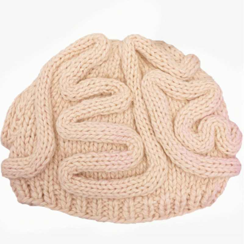 ... 2018 Hot New Hand Knitted Personality Brain Hat Halloween Cosplay Hats  Kids Adults Crochet Beanie Cool ae9b73e9f6d