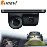 Eunavi 2018 Parktronic 2 In 1 Car Parking Sensors Rear View Backup Camera Universal High Clear Night For Vision Reversing Radar