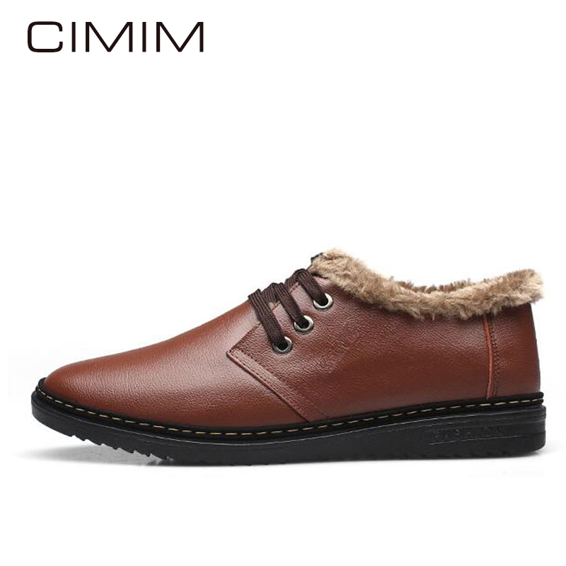 CIMIM Winter Shoes Men Warm Plush Mens Shoes Casual Fashion Men Loafers Leather Mens Winter Footwear Zapatos Hombre Men's Shoes  plush casual suede shoes boots mens flat with winter comfortable warm men travel shoes patchwork male zapatos hombre sg083