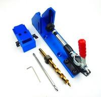 Holzbearbeitung Guide Carpenter Kit System  geneigt loch bohrer werkzeuge  clamp basis Bohrer Kit System  tasche Loch Jig Kit-in Bohrkronen aus Werkzeug bei