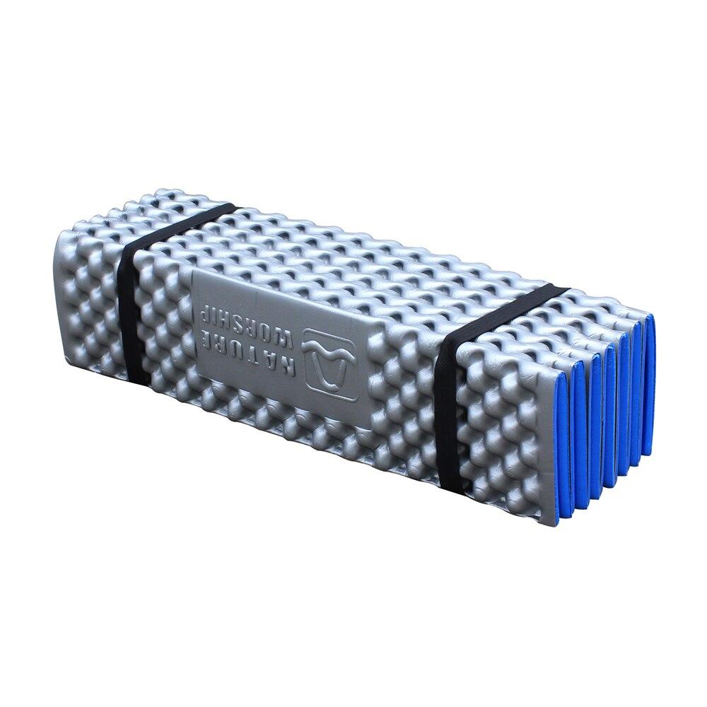 En plein air Portable en aluminium Film oeuf fente randonnée Camping pique-nique tapis de couchage tente matelas mousse étanche à l'humidité Pad