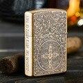 Pure copper kerosene wind wheel machine, creative personality Constantine restoring ancient ways,Metal gift lighters