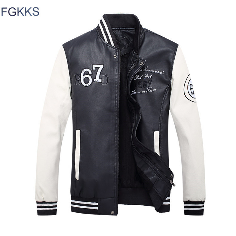 FGKKS Winter Leather Jacket Men Hooded New Brand Long Warm Jackets Coats High Quality Business Slim Fit Leather Jacket Male