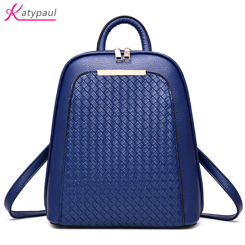 Vintage Casual New 2017 Leather School Bags High Quality sale Women Candy Famous Designer Brand Backpack