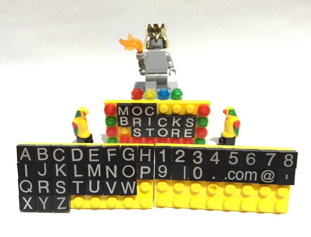 Us 8 01 19 Off 41 Teile Los Buchstaben Und Zahlen Kompatibel Legoinglys Schreibtisch Visitenkarte Halter Bausteine Ziegel 850425 Spielzeug Für