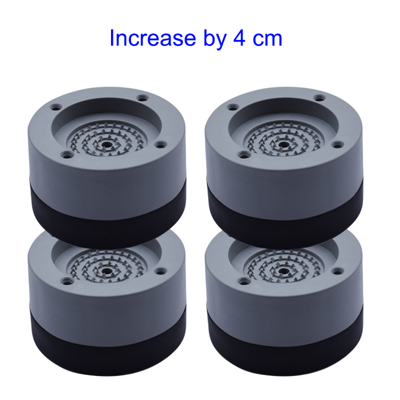 Hot 4 Pcs Washing Machine Refrigerator Mute Rubber Mat Anti Vibration Anti Shock Pad LSK99