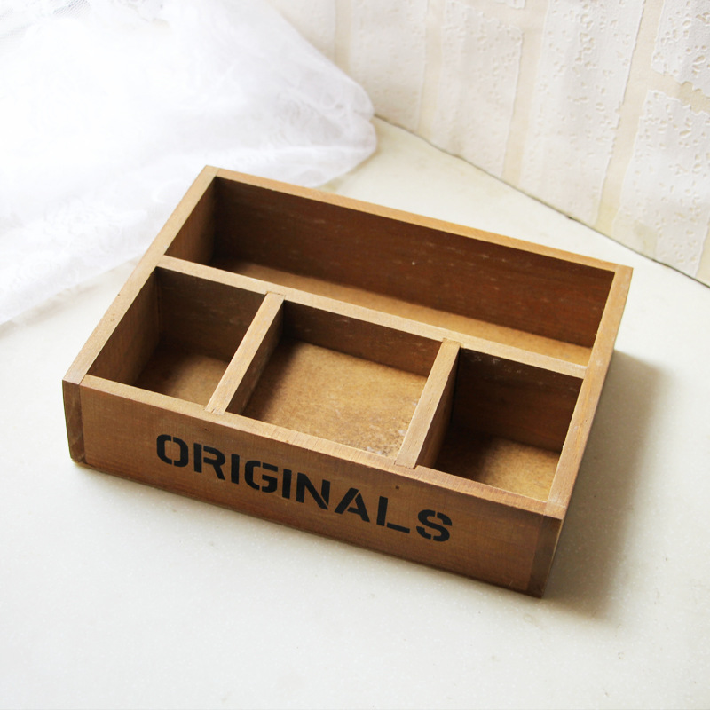 the latest 847d2 05fc6 US $25.78 |2 Pcs Zakka Wooden Storage Box Remote Control Cell Phone Desk  Home Decor Wood Case Room Style Natural Classic Wooden Boxes-in Storage  Boxes ...