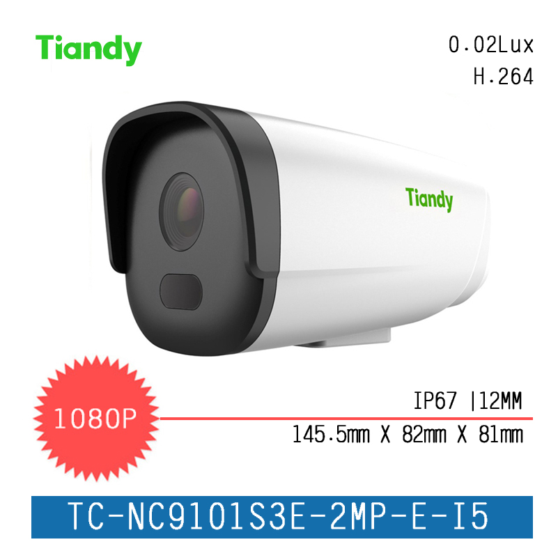 Tiandy TC-NC9100S3E-2MP 12MM Box Camera Fixed 2MP Fixed IR Dome Series IP Camera 1080P Outdoor Support Onvif and English Version fixed support l