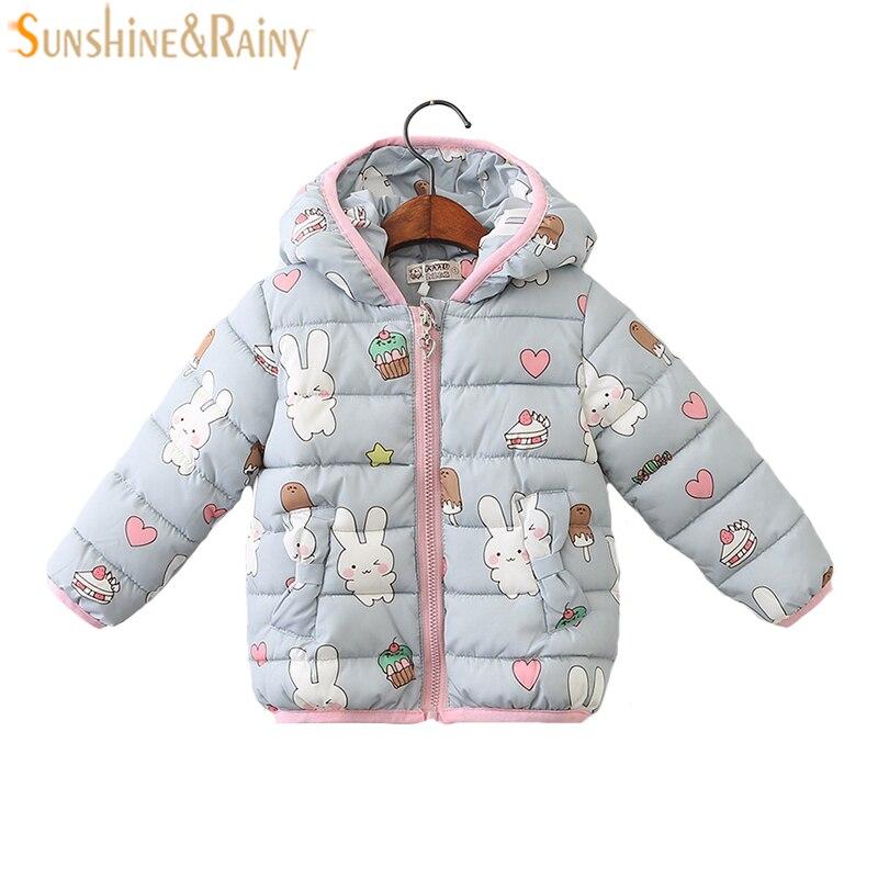 С рисунком кролика Обувь для девочек Пальто для будущих мам зимние Куртки для детская верхняя одежда & Пальто для будущих мам с длинным рука...