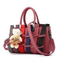 Brands Handbags 2018 new women bags Korean fashion lady patchwork tote shoulder bag hobos women Messenger bag