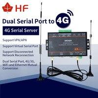 HF2421 4G двойной последовательный порт сервера RS232 RS485 RS422 к Ethernet WIFI 4G 3g сеть GPRS преобразователь
