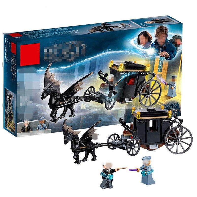 2018 kompatibel legoing Harry Potter Hogwarts 16053 Serie Grindelwald der Escape Modell baustein Spielzeug Für Kinder Geschenk 75951