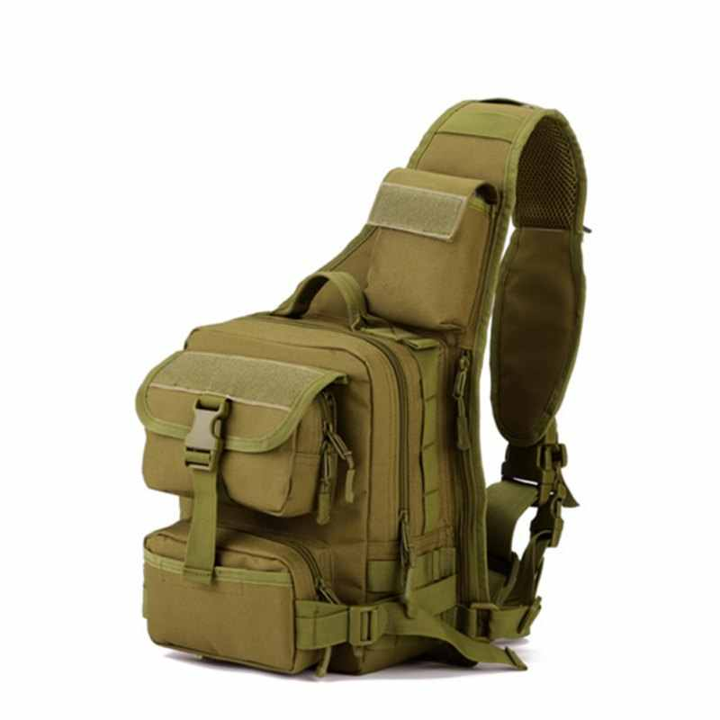 722c516823c2 Tactical Military Daypack Sling Chest Pack Bag Molle Laptop Backpack Large  Shoulder Bag Crossbody Duty Gear for Hunting Camping