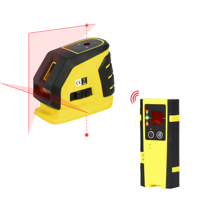 Firecore 118L 2 Lines 2 Points Laser Level Self-leveling Horizontal And Vertical Cross Red Laser Line+Outdoor Receiver цена