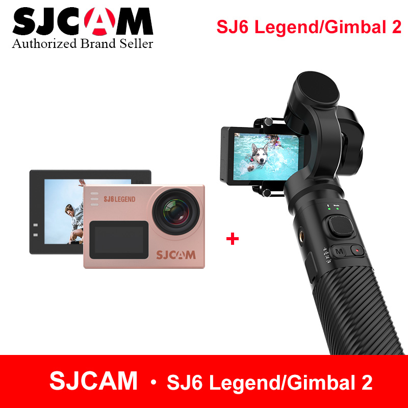SJCAM Handheld Gimbal 2 3-Axis Stabilizer for SJ6 SJ7 star SJ8 series match with SJCAM SJ6 LEGEND 4K wifi remote action camera экшн камера sjcam sj6 legend uhd 4k wifi розовый [sj6legend rosegold]