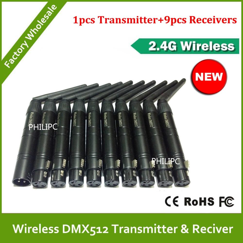 DHL Free Shipping 2.4G ISM DMX512 PAR Wireless XLR Receiver  Useful Helper Led Stage Lighting Effect for DJ Light KTV Party dhl free shipping 3pins xlr wireless dmx receiver and transmitter for led stage light