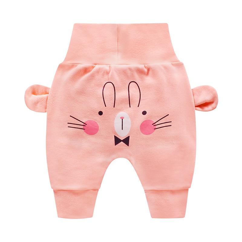 Newborn Baby Boys Girls Cartoon Pants Infant Baby Autumn Pp Pants Cartoon Print Bottoms(China)