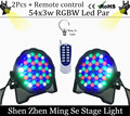 2Pcs/lots Remote control 54X3W RGBW LED Par Light LED PAR DMX512 controller led lights, disco lights DJ equipment