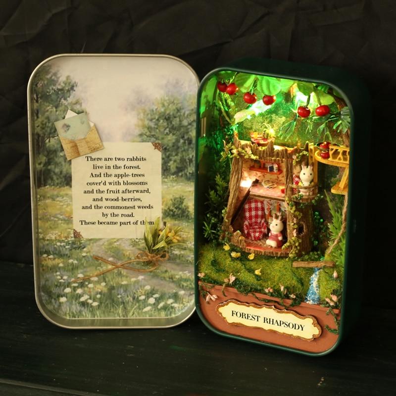 Жиһаз DIY Doll үйі Wodden Miniatura Doll үйлері - Қуыршақтар мен керек-жарақтар - фото 4