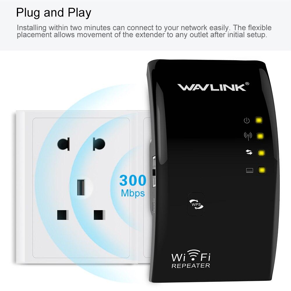 Repetidor WIFI inalámbrico de alta potencia de la señal Wi-Fi extensor de rango wifi amplificador de señal de refuerzo/AP/Repetidor 802.11N/B/ G WPS Wavlink