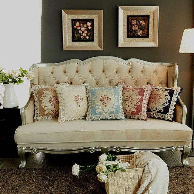 aliexpress : chenille stoff luxus kissenbezüge 45x45 cm, Wohnzimmer